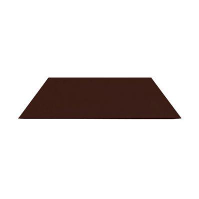 Лист оцинкованный  0.25мм, 2х1м,  коричневый
