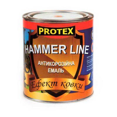 Эмаль Protex HAMMER LINE, золото, с эффектом ковки, 0,75кг