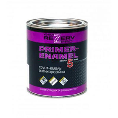 Грунт-эмаль 3в1 черная, 0.8кг, Khimrezerv Pro
