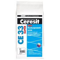 Фуга CE-33 Plus 100 белый, 2кг, Ceresit