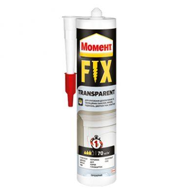 Жидкие гвозди Fix Transparent, 280г, Момент