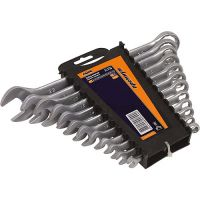 Набор ключей рожок-рожок 6-32мм CrV, 12шт