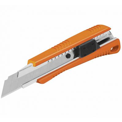 Нож выдвижной Пластик 150мм, 3 лезвия, Truper