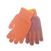 Перчатки оранжевые с точкой ПВХ с 1-ой стороны, 65г