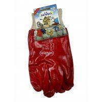 Перчатки МБС с красным ПВХ покрытием, 130г