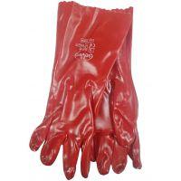 Перчатки МБС с красным ПВХ покрытием, 220г