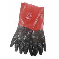 Перчатки МБС с красным ПВХ покрытием, 257г