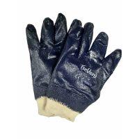 Перчатки трикотажные с синим нитриловым покрытием, 120г