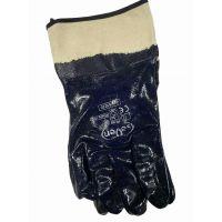 Перчатки трикотажные с синим нитриловым покрытием, 124г