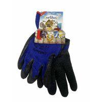 Перчатки хлопок с латексным покрытием синие с черным, 92г