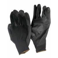 Перчатки полиэстер с полиуретановым покрытием черные, 31г