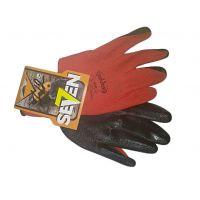 Перчатки нейлон с нитриловым покрытием красные с черным, 40г