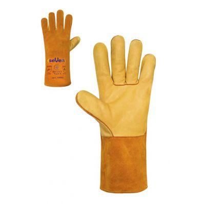 Краги сварщика на подкладке с покрытием кожи желтые,  300г