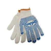 Перчатки текстильные белые с точкой ПВХ с 1-ой стороны, 36г