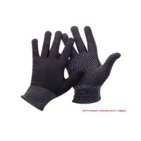 Перчатки текстильные черные с точкой ПВХ с 1-ой стороны, 36г