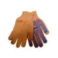 Перчатки текстильные оранжевые с точкой ПВХ с 1-ой стороны, 54г